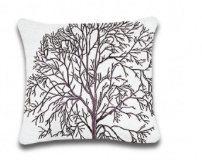 ELM TREE WHITE TOSS PILLOW