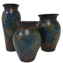 Tanque Vases in Azul Baja Set of 3