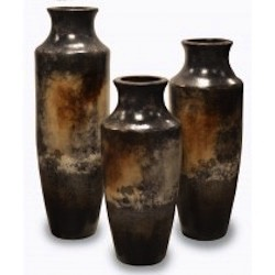 Paris Vases in Gris Plomo Set of 3