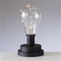 Torre & Tagus LightBulb LED Mini Lamp -Black