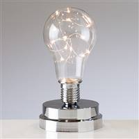 Torre & Tagus LightBulb LED Mini Lamp -Silver