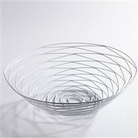 Torre & Tagus Weave Bowl Wide - Powder Coated White