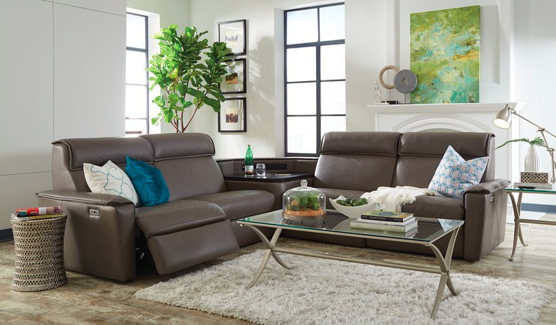 Palliser Napoli Sectional with sound bar and power recliner