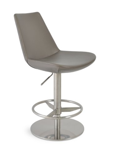 Soho Eiffel Piston Bar Stool in Red Leatherette