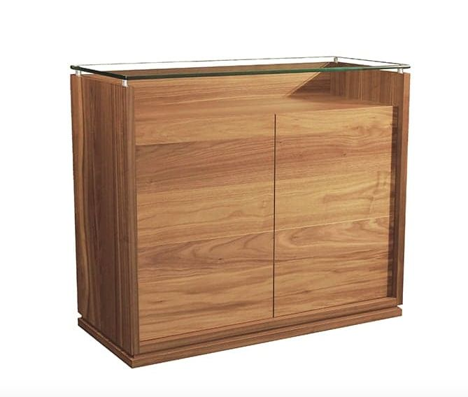 Verbois Val Two Door Buffet With One Drawer & Glass Top.