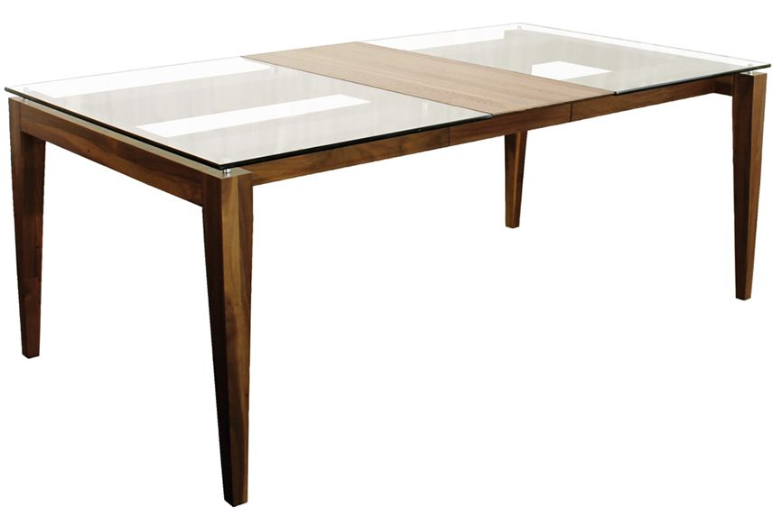 Verbois val extensible dining table portfolio interiors for Table extensible canada