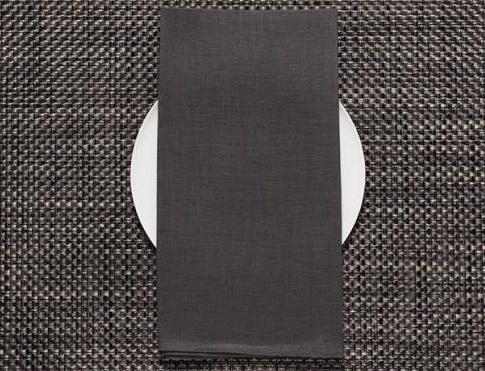 Chilewich Chilewich 100% Linen Napkin - Single Ply - Smoke