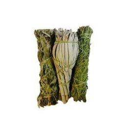 Juniper Ridge Juniper Ridge Smudge - Sage Mugwort Cedar Mini Variety Pack