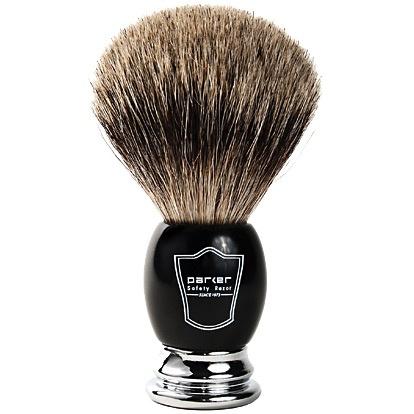 Howi Inc Pure Badger Brush, Chrome/Black handle