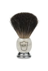 Howi Inc Pure Black Badger Brush, Marbelized handle