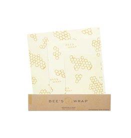 Beeswraps Beeswraps Assorted Wraps (S, M, L) in Honeycomb print