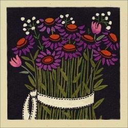 Bottman Design Gift enclosure - Purple Flowers