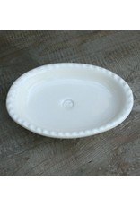 K Hall Beaded Soap Dish Cream
