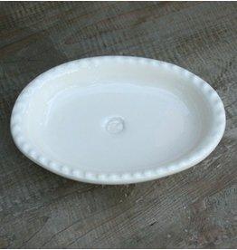 K Hall Beaded Soap Dish Cream