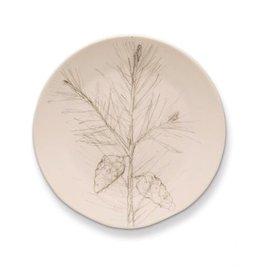Rosy Rings Ceramic Round Plate - Pine
