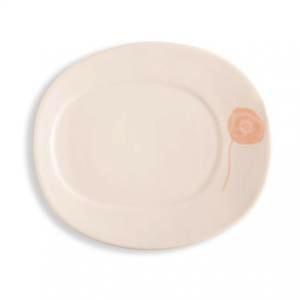 Rosy Rings Poppy Petite Oval Ceramic Plate