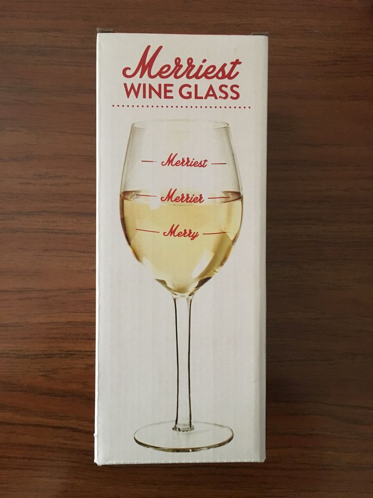 Twos Co Merriest Wine Glass