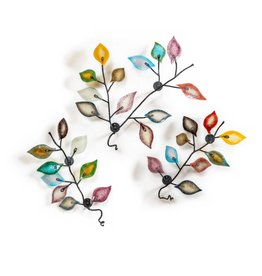 Troy Corliss Wild Ash- glass leaves (3 set)