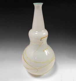 "Elin Christopherson Glass Vase 17""x 9"" Long Neck"