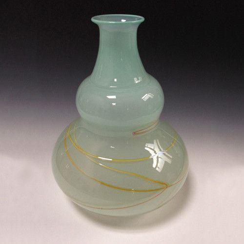 Elin Christopherson Glass Vase w/ Swirls