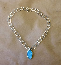 Colleen Blinoff Aquamarine handmade chain necklace
