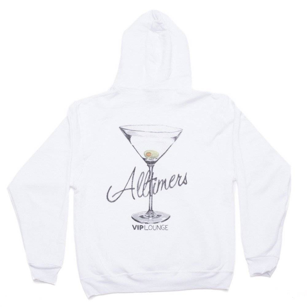Alltimers Alltimers Watercolor Logo Hood - White