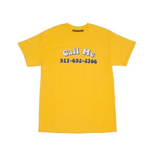 Nine One Seven Call Me 917 Groovy Call Me T-shirt - Yellow