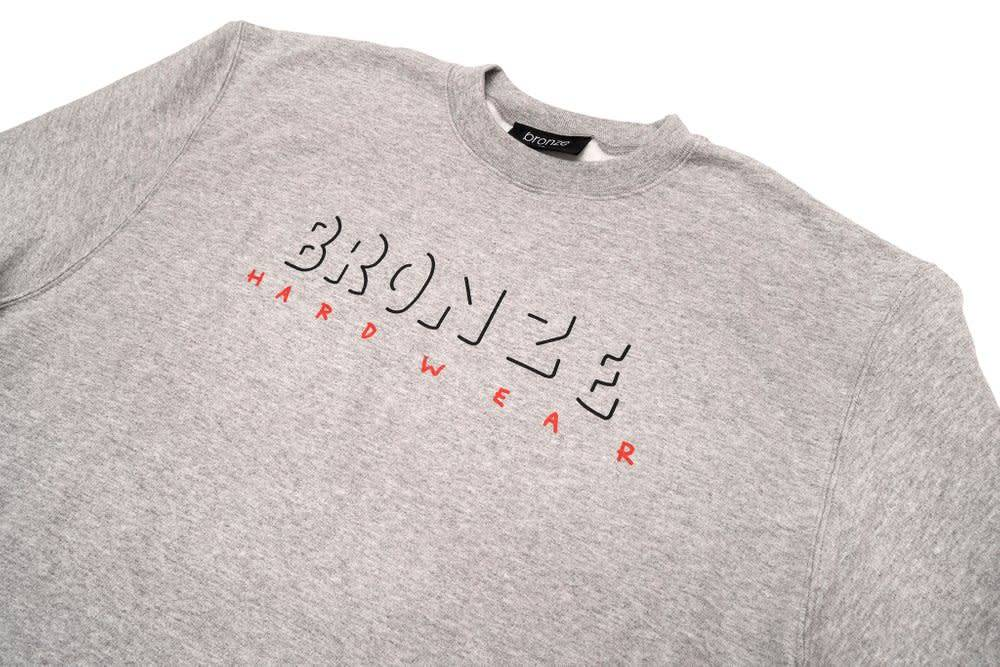 Bronze 56K Bronze 56K B Hardwear Crewneck - Heather Grey