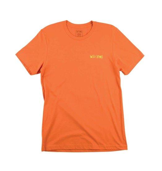 Welcome Welcome Vertigo Tee - Orange/Lime