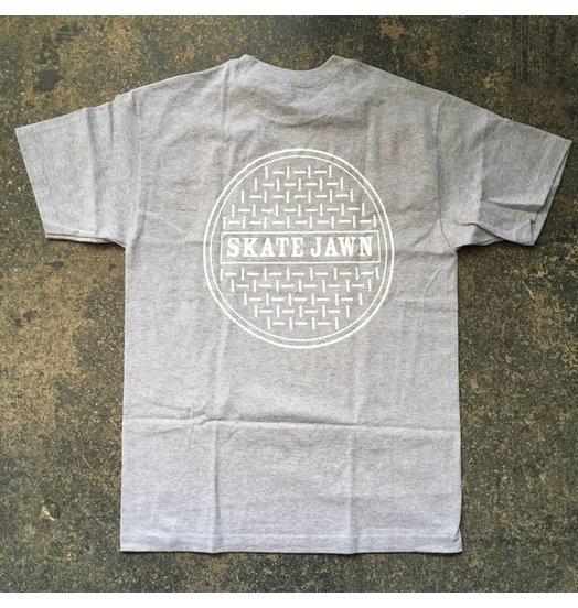 Skate Jawn Sewer Cap Tee - Grey