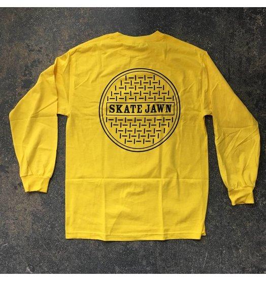 Skate Jawn Sewer Cap Longsleeve - Yellow