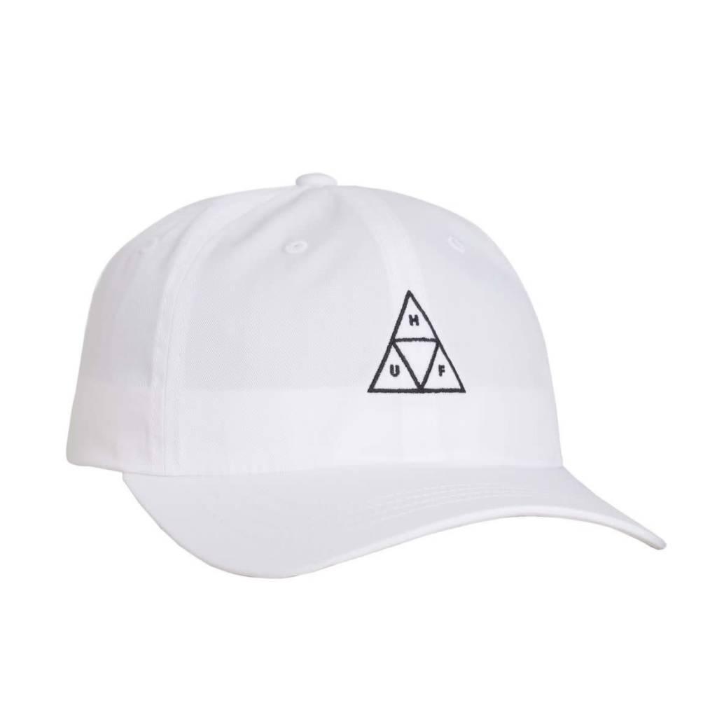 HUF Huf Triple Triangle Curved Visor Hat - White