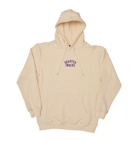 Quartersnacks Quartersnacks Embroidered Arch Hoodie - Cream