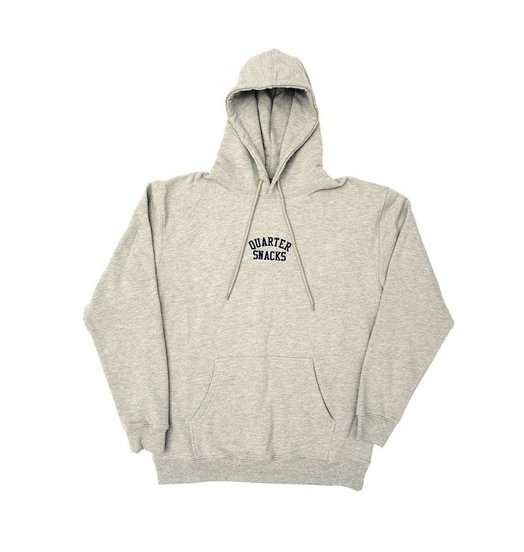 Quartersnacks Quartersnacks Embroidered Arch Hoodie - Heather Grey