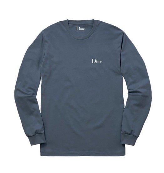 Dime Dime Classic Logo Longsleeve - Stone Blue