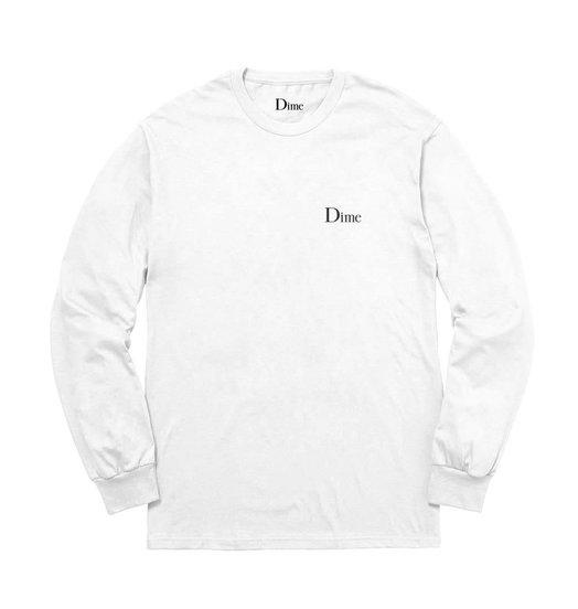 Dime Dime Classic Logo Longsleeve - White
