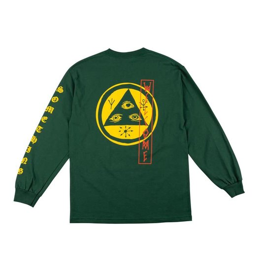 Welcome Welcome Beckon Longsleeve - Forest Green