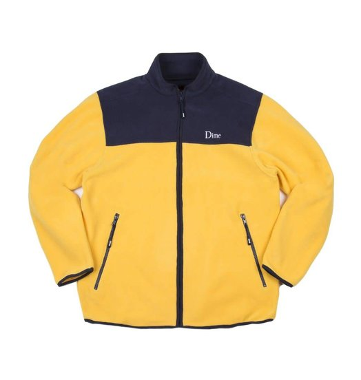 Dime Dime Fleece Jacket - Yellow