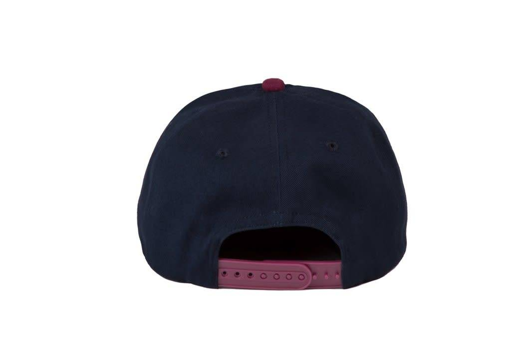 Dime Dime Snapback Hat - Navy & Burgundy