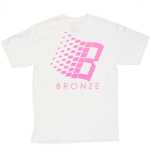 Bronze 56K Bronze 56K B Logo Solar Active Tee - White/Pink