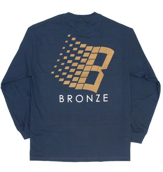 Bronze 56K Bronze 56K B Logo Longsleeve - Navy/Bronze/Orange