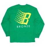 Bronze 56K Bronze 56K B Logo Longsleeve - Kelly Green/Yellow