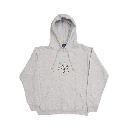Humble Humble Flower Logo Embroidered Hoody Ash Grey