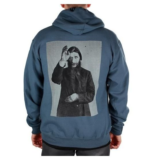 Theories Theories Rasputin Hoody - Steel Blue