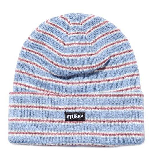 Stussy Stussy Striped Cuff Beanie - Blue