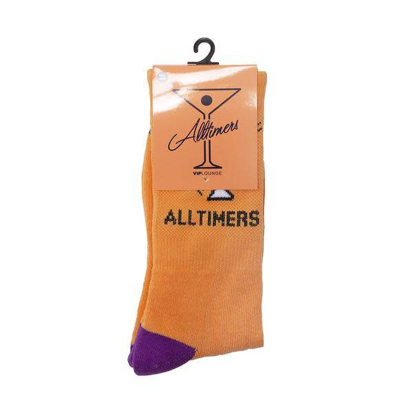 Alltimers Alltimers Action Logo Socks - Peach/Navy