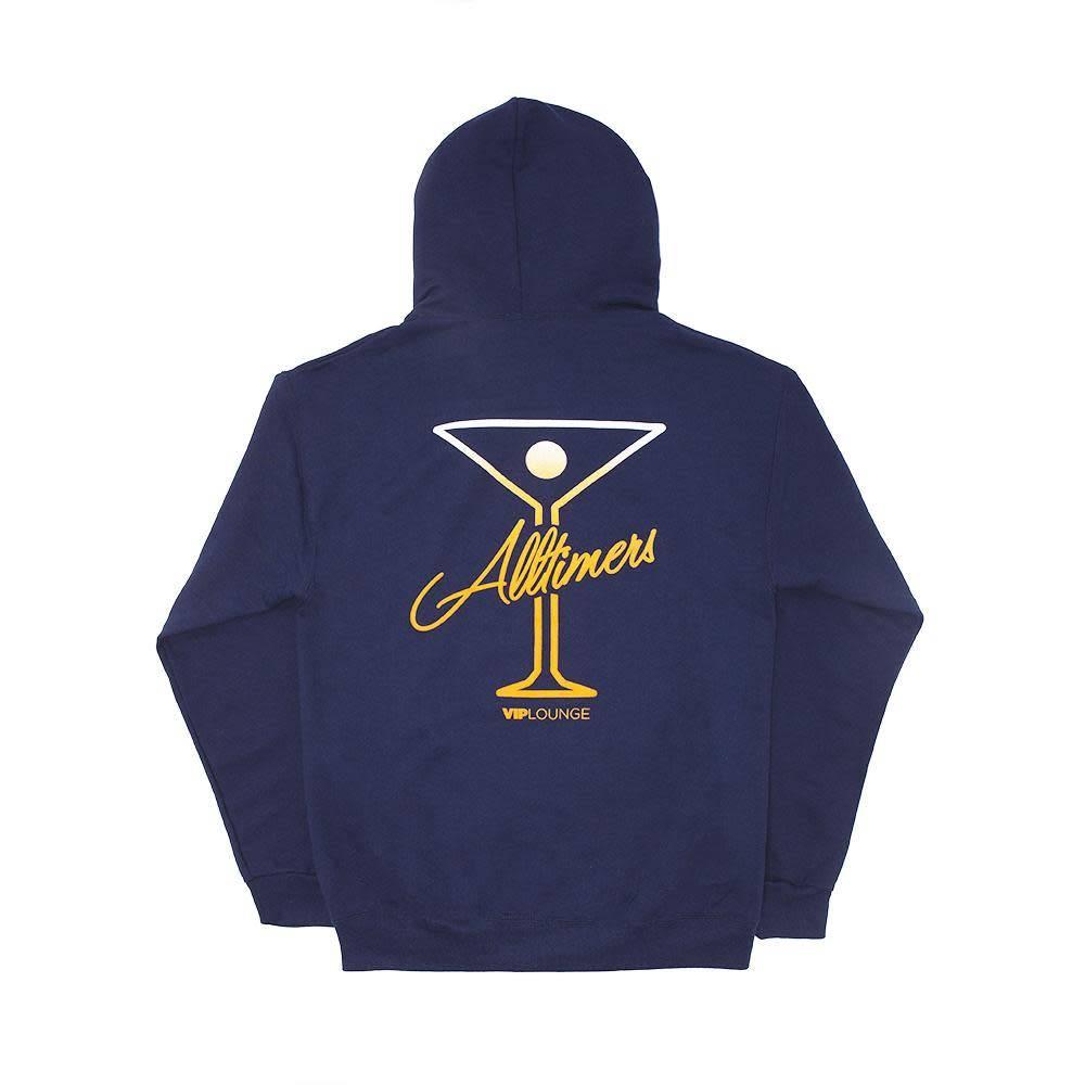 Alltimers Alltimers Puff Classic Logo Hoodie - Navy