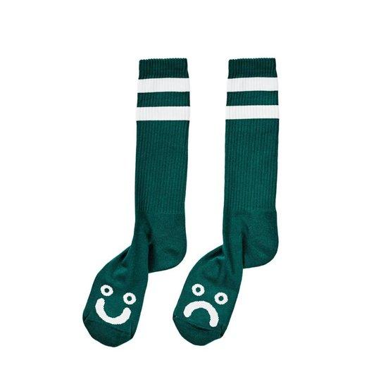 Polar Polar Happy/Sad Socks - Dark Green