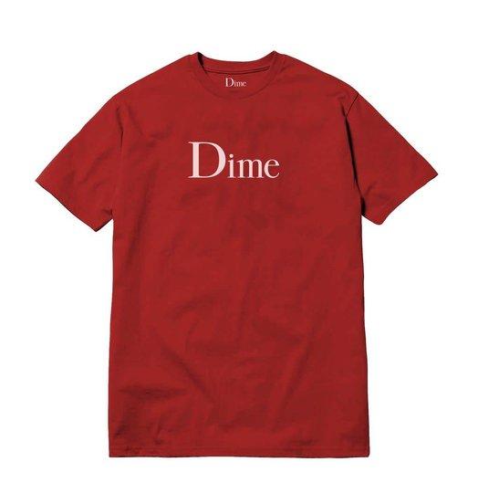 Dime Dime Classic Logo Tee - Cardinal