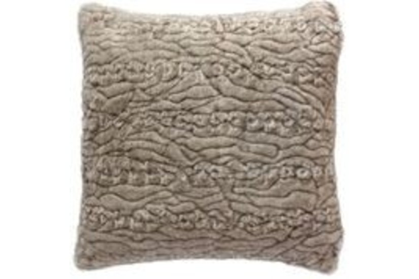 SIOUX TAUPE FUR PILLOW
